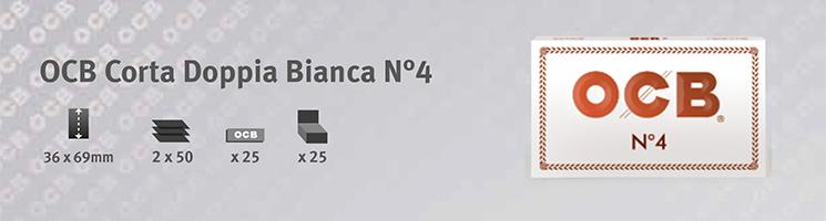 Cartina OCB Bianca Corta Doppia n4