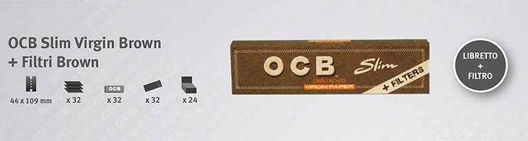 Cartina OCB Virgin Brown + Filtri Brown