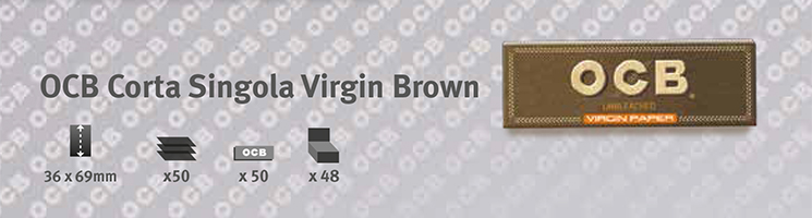 Cartina OCB Virgin Corta Singola Brown