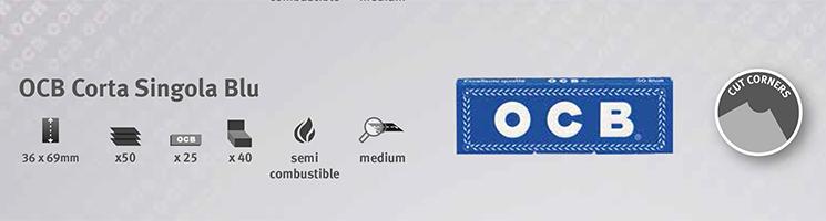 Cartine OCB Corta Singola Blu