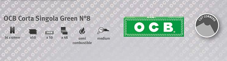 Cartine OCB Corta Singola Green n8