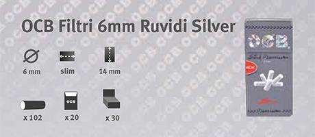 Filtri OCB Ruvidi 6mm Silver