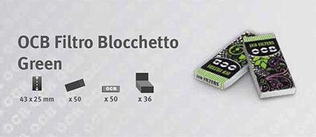 Filtro OCB Blocchetto Green